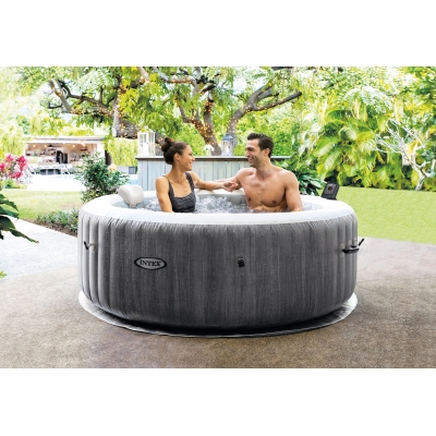 FULL ZESTAW DMUCHANE SPA GREYWOOD JACUZZI 196x71 cm 4 os. - INTEX 28440