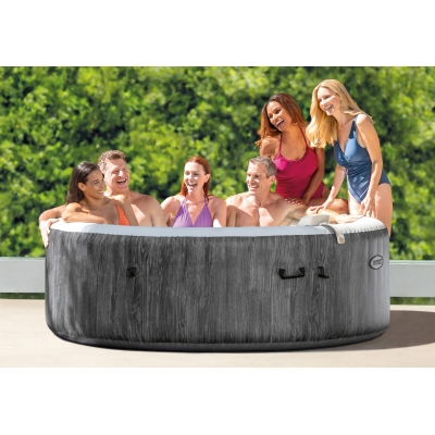 FULL ZESTAW DMUCHANE SPA GREYWOOD JACUZZI 216x71 cm 6 os. - INTEX 28442
